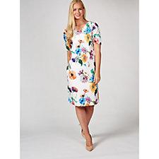 172269 - Ruth Langsford Short Sleeve Wild Flowers Printed Shift Dress