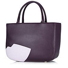 134770 - Lulu Guinness Abstract Lips Smooth Leather Wanda Handbag
