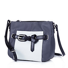 Tignanello The Statement Pebble Texture Crossbody Bag with Belt Detail