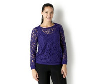 Chelsea Muse by Christopher Fink Lace Sweatshirt with Cami