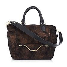 Aimee Kestenberg Zurich Pebble Leather Suede Convertible Shopper Bag