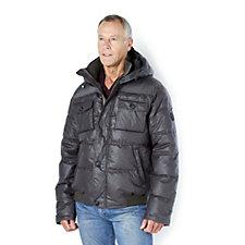 Rino & Pelle Men's Hooded Pocket Detail Puffa Jacket