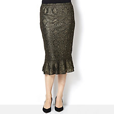Sequin Lace Long Skirt by Michele Hope