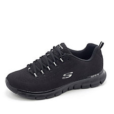 Skechers Synergy Safe and Sound Soft Knit Lace Up Trainer w/ Memory Foam