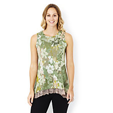 Logo Lounge Printed French Terry Sleeveless Top