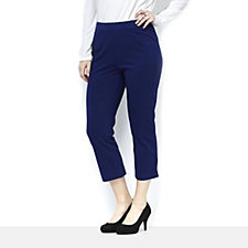 C. Wonder Piping Detail Pull On Cropped Trousers