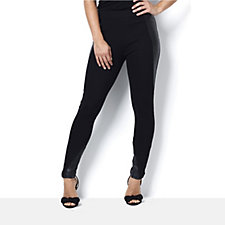 Label Lab Panelled Faux Leather Ponte Leggings