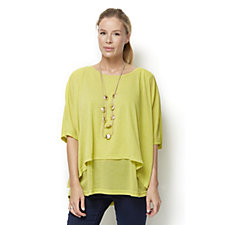 Join Clothes Summer Weight Jersey Double Layer Tunic