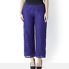 Chelsea Muse by Christopher Fink Short Lace Palazzo Trouser