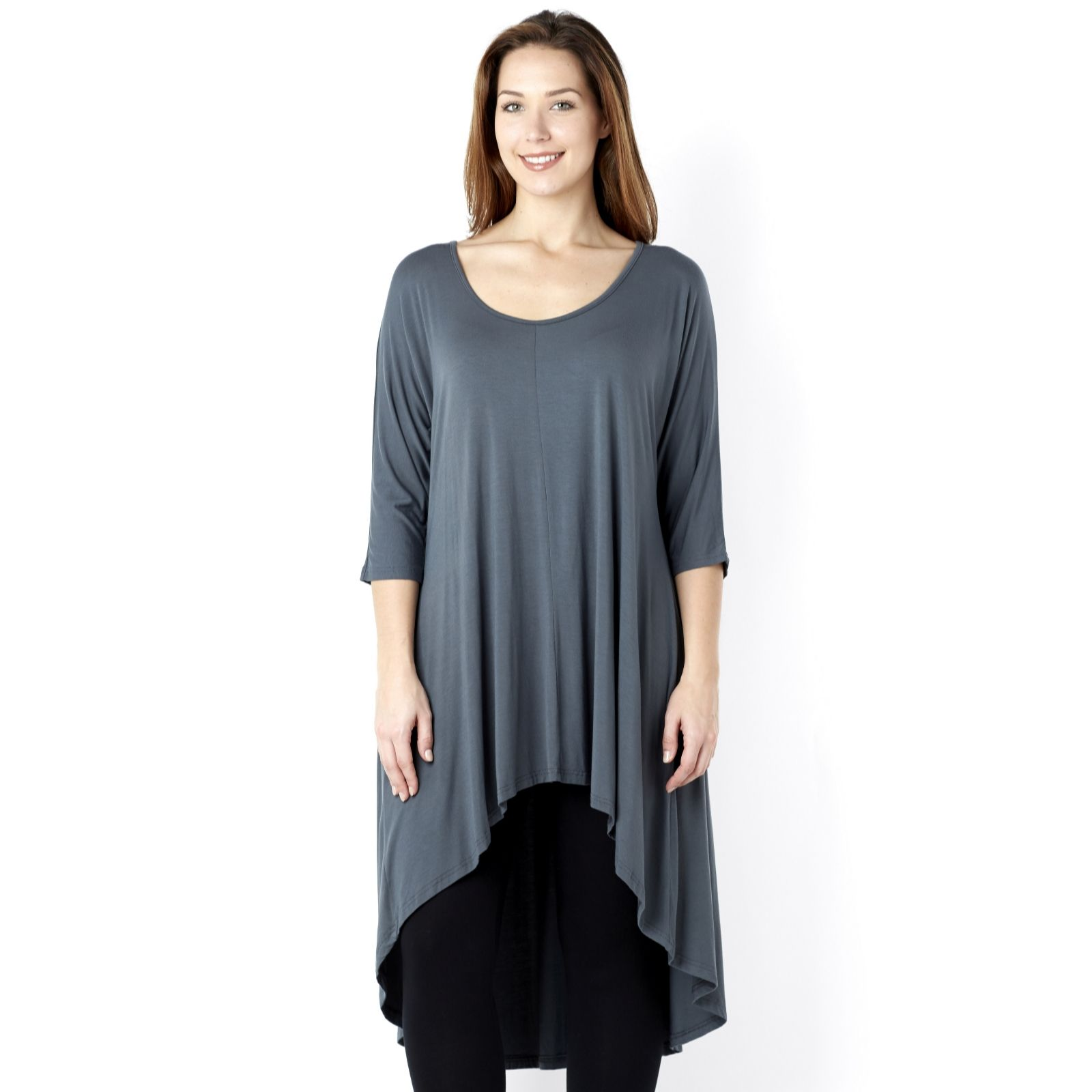 Join Clothes Jersey Dip Back Tunic with Grown on Sleeve