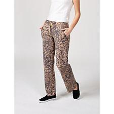 Cuddl Duds Comfortwear Patch Pocket Wide Leg Trousers