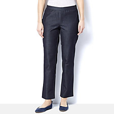 H by Halston Studio Stretch Petite Length Pull On Trousers