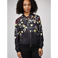Nick Vereos Printed Knit Bomber Jacket