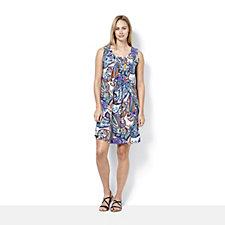 Ronni Nicole Sleeveless Paisley Printed Dress