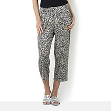 Kim & Co Print Venechia Jumping Beans Cropped Trousers with Pockets