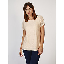 Fashion by Together Stretch Lace Top