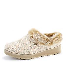 Skechers Keepsakes High Sequin Sweater Knit Slipper with Memory Foam