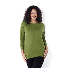 126572 - Wide Neck Jumper with Drop Back by Susan Graver