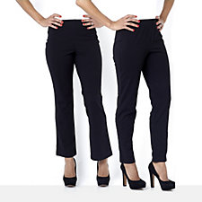 Women with Control Slim Leg & Bootcut Two Pack Regular Trousers