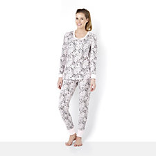 Jane & Bleeker Thermal Top & Pant Printed PJ Set
