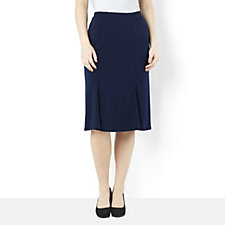 Kim & Co Stretch Crepe 4 Panel Fluted Skirt