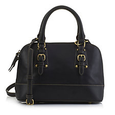 Tignanello Morocco Glove Leather Dome Satchel Bag