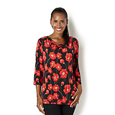 The Poppy Collection Brazil Knit Top with Drape Neck by Kim & Co