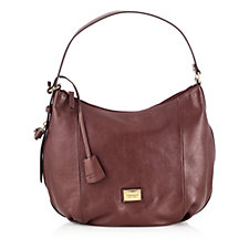 Tignanello Pebble Leather Lock and Key Hobo Bag with RFID Protection