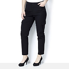 Isaac Mizrahi Live 24/7 Stretch Straight Leg Cargo Trousers