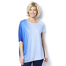 Ombre Batwing Asymmetric Tunic by Nina Leonard