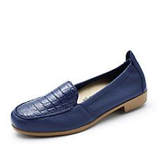 Vitaform Leather Mock Croc Loafer