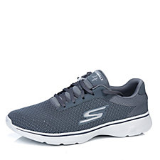 Skechers Men's GOwalk 4 Two Tone Seamless Air Mesh Lace Up Trainer
