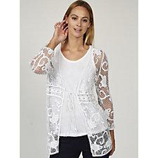 Antthony Designs Long Sleeve Crochet Cardigan
