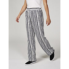 Mr Max Stripe Crepe Wide Leg Trousers