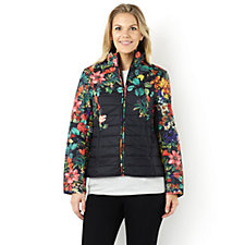 Centigrade Floral Print Quilted Jacket