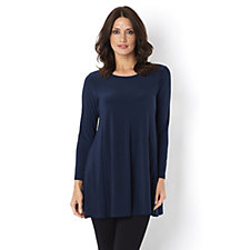 Yong Kim Stretch Jersey Long Sleeve Tunic with Hidden Pocket