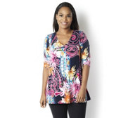 Attitudes by Renee Paisley Floral Printed Tunic