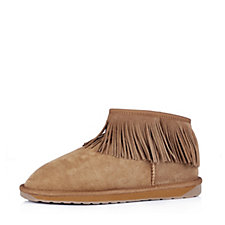 160073 - Emu Water Resistant Sheepskin Micro Boots with Fringe Detail