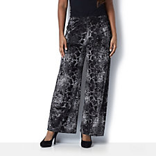 Velvet Snakeskin Print Trousers by Michele Hope