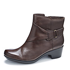 Clarks Malia McCall Leather Ankle Boots