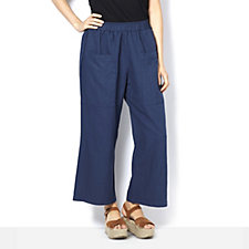 Join Clothes Cropped Linen Cotton Trousers