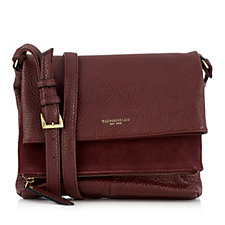 Tignanello Leather Multi Compartment Crossbody Bag with RFID Protection