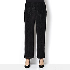 Jersey Velvet Burnout Wide Leg Trouser by Michele Hope
