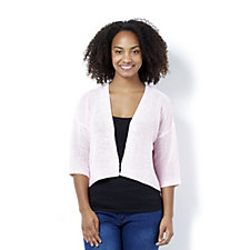 Marble Edge to Edge Cardigan with Back Knit Detail