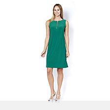 Coco Bianco Sleeveless Zip Front Dress