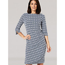 Ruth Langsford Geo Print Mock Wrap Dress