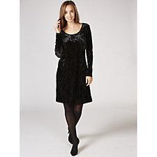 Ronni Nicole Scoop Neck Velvet Swing Dress