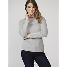 Together Frill Neck Jumper with Sleeve Detail