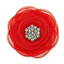 The Poppy Collection Fabric Brooch by Loverocks