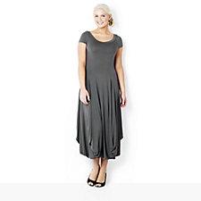 Join Clothes Hitched Hem Cap Sleeve Maxi Dress